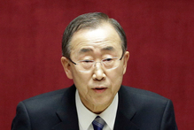 United Nations Secretary-General Ban Ki-moon will visit war torn Gaza in the next few days.Photo / AP