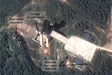 A facility in Sohae, North Korea. Photo / AP