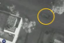 The car of Hamas military chief, Ahmad Jabari, circled, moments before an airstrike hit. Photo / AP