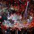 US singer Taylor Swift performs during the 2012 MTV European Music Awards show.. Photo/AP
