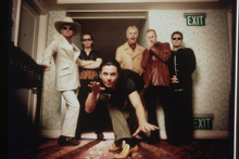 INXS, with late frontman Michael Hutchence (centre) formed in 1977. Photo / Supplied