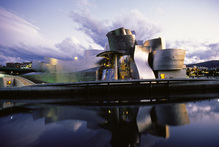 Roger Blakeley says the Guggenheim Museum transformed Spain's Bilbao. Photo / Supplied