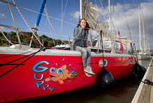Round-the-world solo sailor Laura Dekker hopes to get into Maritime School in Auckland. Photo / Sarah Ivey