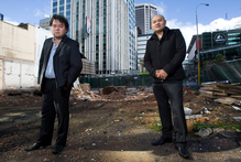 John Chow (left) and brother Michael are seeking consent for a 15-storey building. Photo / Paul Estcourt