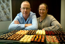 Tim Meikle and Sally Meikle of Colestown Chocolates. Photo / Brett Phibbs