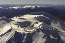 The last eruption at Mt Ruapehu was in 2007. It was also thought to have been caused by a build-up of pressure beneath crater lake. Photo / Nicola Topping