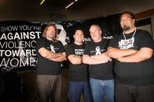 Greg Tichbon, Vince Potaka, Tim Metcalfe and Jay Rerekura. Photo / Wanganui Chronicle