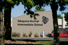 Takapuna Normal Intermediate School teachers last week suggested to students that they keep the hugs outside of the school day. Photo / Dean Purcell