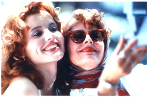 Geena Davis and Susan Sarandon (l-r) as Thelma and Louise.Photo / File