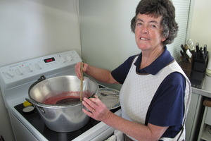 Gloria Crawford and her jam-making prowess went viral a last week. Photo / Peter de Graaf