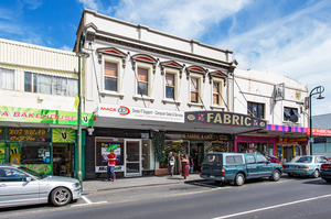 The building for sale is in Onehunga's established commercial centre. Photo / Bruce Clarke
