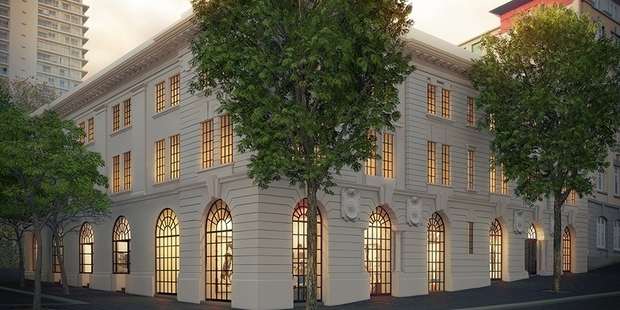 An artist's impression depicting the exterior of X Gallery which is expected to open next year. Photo / Supplied