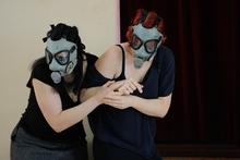Madeleine Pierard and Anna Pierard as sisters Fiordiligi and Dorabella in the Auckland Opera Studio's performance of Cosi fan Tutte. Photo / Allan McGillivray