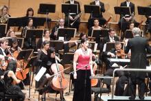 Madeleine Pierard with Auckland Philjharmonia Orchestra. Photo / Studio Guidon