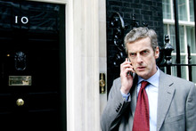 Peter Capaldi is the foul-mouthed Malcolm Tucker, in The Thick of