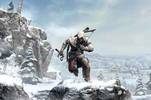 New hero Connor makes his way through the icy wilds of the frontier. Photo / Supplied