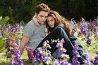 Robert Pattinson as Edward Cullen and Kristen Stewart as Bella Swan in 'The Twilight Saga: Breaking Dawn Part 2'. Photo / Supplied