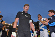 Adam Thomson walks of the pitch following the All Blacks win over Scotland. Photo / Getty Images