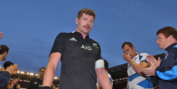 Loading Adam Thomson walks of the pitch following the All Blacks win over Scotland. Photo / Getty Images