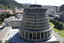 One of Wellington's most iconic landmarks, the Beehive. Photo / Mark Mitchell 