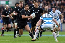 Dan Carter's performance was worthy of a perfect 10. Photo / Getty Images