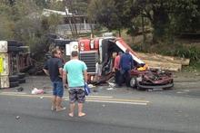 The scene of the crash. Photo / Patrick Klijn