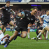Israel Dagg runs in to score after being set up by a Dan Carter run. Photo / Getty Images