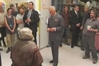 "Prince Charles met Mark Hadlow, who plays the dwarf Dori in ""The Hobbit"" movies, in a tour of Weta Studios in Wellington."