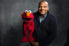 Elmo puppete