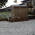 A huge pile of hail in the playground at Baverstock Oaks school in Flat Bush. Photo / Angela Reid