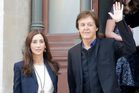 Sir Paul McCartney and his wife Nancy Shevell narrowly avoided a helicopter crash at their East Sussex estate. Photo/AP
