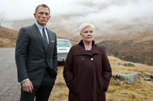 Revered actress Judi Dench stars alongside Daniel Craig in the upcoming Bond film Skyfall. Photo/AP 