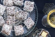 Little chocolate lamingtons. Photo / Babiche Martens