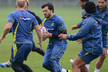 Adam Ashley-Cooper of Australia in action during an Australia training session. Photo / Getty Images.