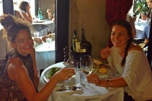 Nicky Park (l) enjoys wine time with her girlfriend.Photo / Supplied
