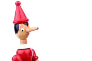 When Pinocchio lied his nose would grow.Photo / Supplied