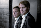 Conductor Pietari Inkinen (front) and concertmaster Vesa-Matti Leppanen were soloists in a Bach concerto. Photo / Supplied
