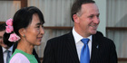 View: John Key meets with Aung San Suu Kyi at Burma