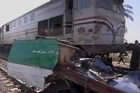 Forty-seven school children were killed on Saturday when a train smashed into their bus in central Egypt after a railway signal operator fell asleep, officials said.