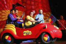 The Wiggles in their iconic Big Red Car. Photo / Getty Images
