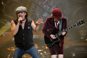 Brian Johnson, left, and Angus Young of AC/DC perform at Madison Square Garden in New York. Photo/AP
