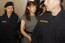 Goidsargi Estibaliz Carranza Zabala arrives for the beginning of her trial at the regional court in Vienna. Photo / AP
