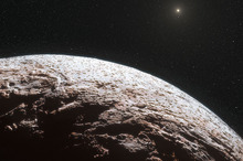 An artists impression of the surface of the distant dwarf planet Makemake. Photo / AP