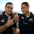 All Blacks halfbacks Piri Weepu (left) with Aaron Smith, June, 2012. Photo / Brett Phibbs 