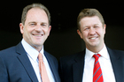 David Cunliffe, right, has pledged to support Labour leader David Shearer if an early leadership vote was held. Photo / Christine Cornege