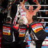 New Zealand heavyweight boxer Shane Cameron celebrates after knocking out Monte Barrett in July. Photo / Greg Bowker