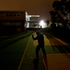 Shadow boxing in the dead of night at a nearby school, boxer Shane Cameron (aka Mountain Warrior) in the lead-up to his world-title fight. Photo / Brett Phibbs