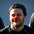 Piri Weepu wearing a Red Nose for Cure Kids at the end of captain's run the on the eve of their test against Australia at Eden Park, August, 2012. Photo / Richard Robinson