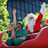 Santa and his two helpers wave to the massive crowd, 2010. Photo / Greg Bowker