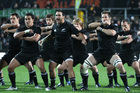 New Zealand perform the Haka before playing Wales, 2010. Photo / NZPA